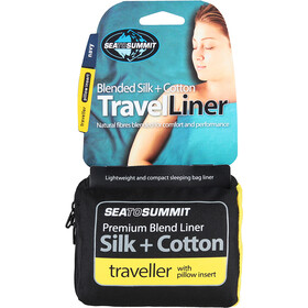 Sea to Summit Silk/Cotton Travel Liner Traveller with Pillow Slip navy blue